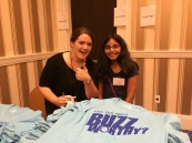 All the spellers received t-shirts at orientation along with a bag full of bee souvenirs.