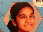 Speller #90 Vanya Shivashankar is from Kansas. This is her 5th year competing in the Bee; her sister Kavya also won the Bee in 2009.