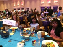 Spellers had their own tables in the front of the ballroom.