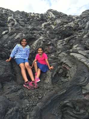 My sister and I enjoyed climbing this hill of pahoehoe on the Big Island.