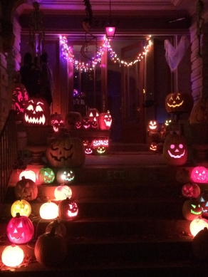 These neighbors do a great job every year decorating for Halloween!