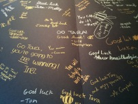 Good luck messages from my schoolmates.