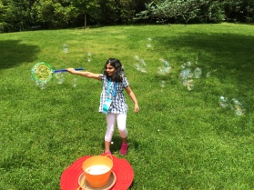My sister loved the bubble-making area.