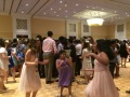 Everyone enjoyed dancing at the party!