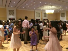 Everyone enjoyed dancing at the party!