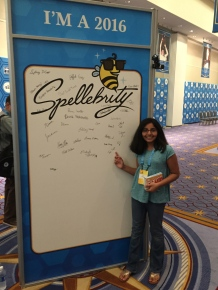 Spellers signed the poster, forever commemorating the 2016 Scripps National Spelling Bee.
