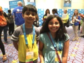 Akash is the youngest speller this year; he's six years old!