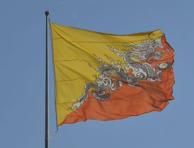 Bhutan has one of the most interesting flags in the world.(©Christopher J. Fynn / Wikimedia Commons / CC BY-SA 4.0)
