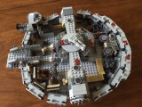 My sister and I love building with LEGOs. Currently, we're working on the Millenium Falcon from Star Wars.