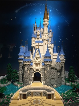 The LEGO rendition of Cinderella's famous castle took 230 hours and 36,000 LEGO bricks.