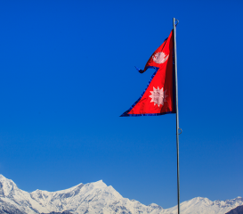 The flag of Nepal is the only flag in the world that is neither a square nor a rectangle. (Picture from www.facts.co)