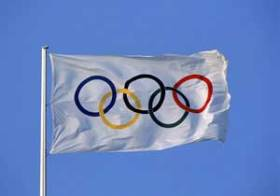 The Olympic flag consists of five interlocking rings on a white background. (Photo from www.mapsofworld.com)