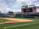 It was exciting to able to see all the spellers' pictures on the jumbotron at Nationals Park!