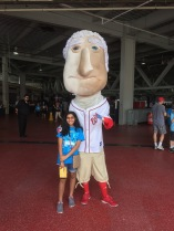 Posing with George Washington was fun!