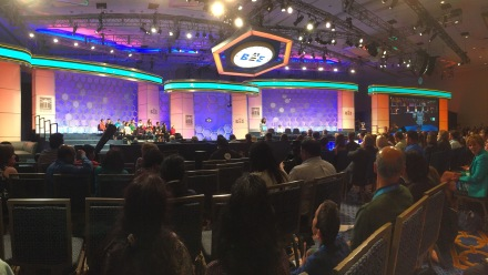 Finalists who were no longer in the competition were invited to sit on stage to watch the Championship Finals.