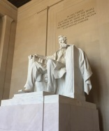 My favorite monument to visit was the Lincoln Memorial.