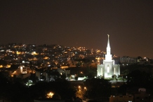 Guayaquil Ecuador Temple at night was beautiful.