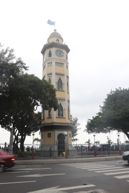 Guayaquil architecture is influenced by many different cultures. Pictured is Torre Morisca, built in 1931. The architecture style is Moorish.