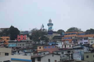 View of Guayaquil's Lighthouse atop Cerro Santa Ana.