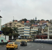 Las Peñas, with its colorful houses and historic lighthouse, is the oldest neighborhood in Guayaquil.